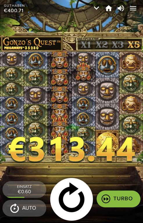 Gonzo's Quest Megaways Gewinnbild von tEquilA