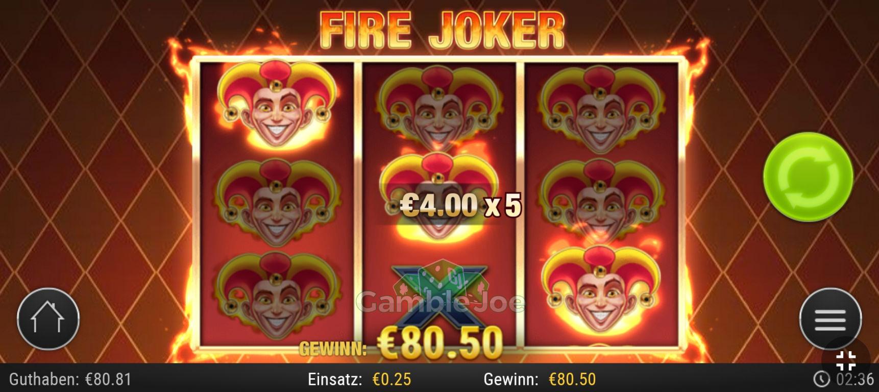 Fire Joker Gewinnbild von Muddi70