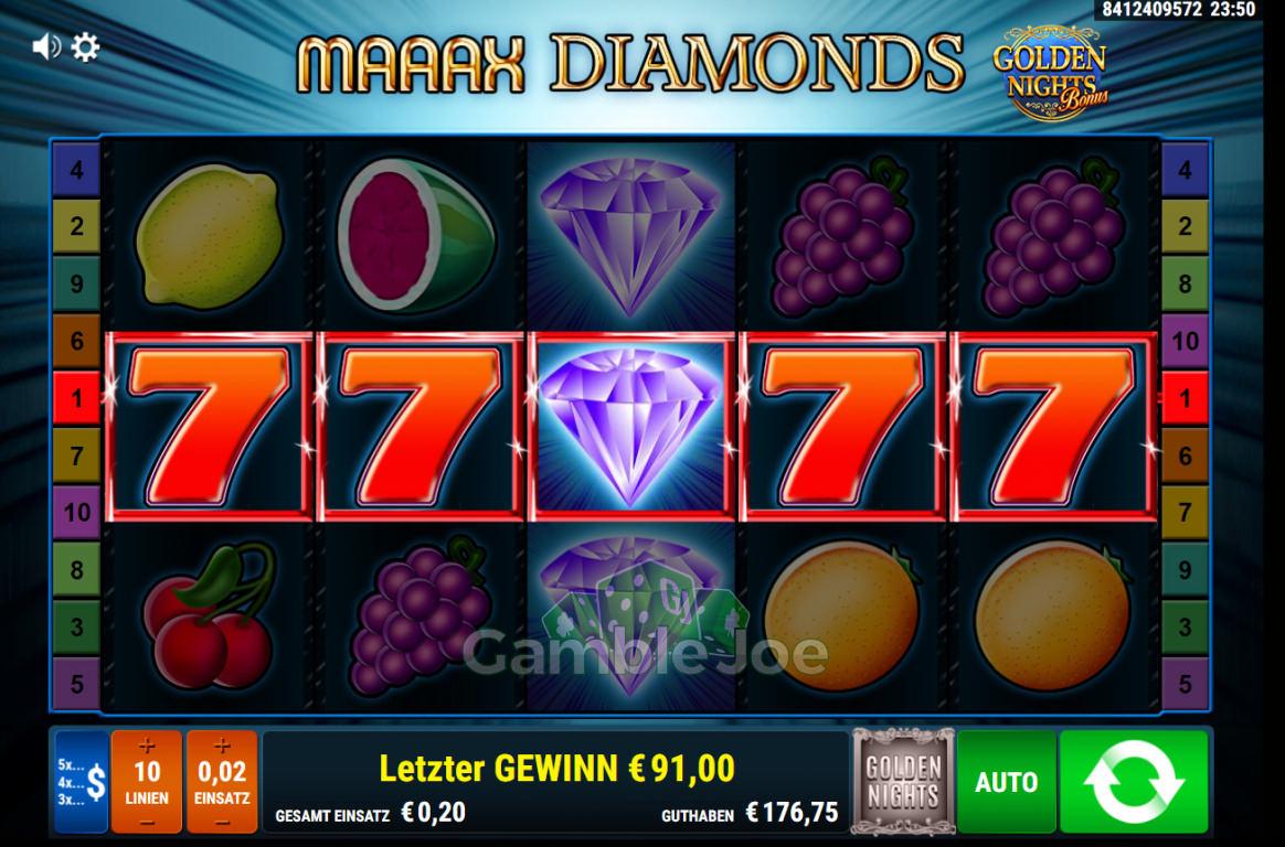 Maaax Diamonds Gewinnbild von KarloKrasso