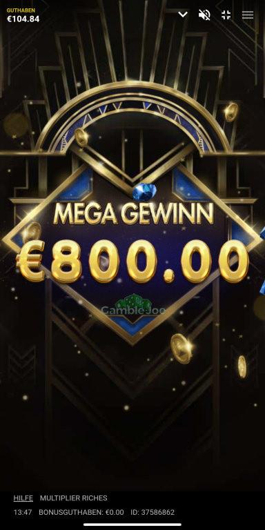 Multiplier Riches Gewinnbild von Goeki72