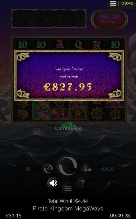 Pirate Kingdom Megaways Gewinnbild von Emx81