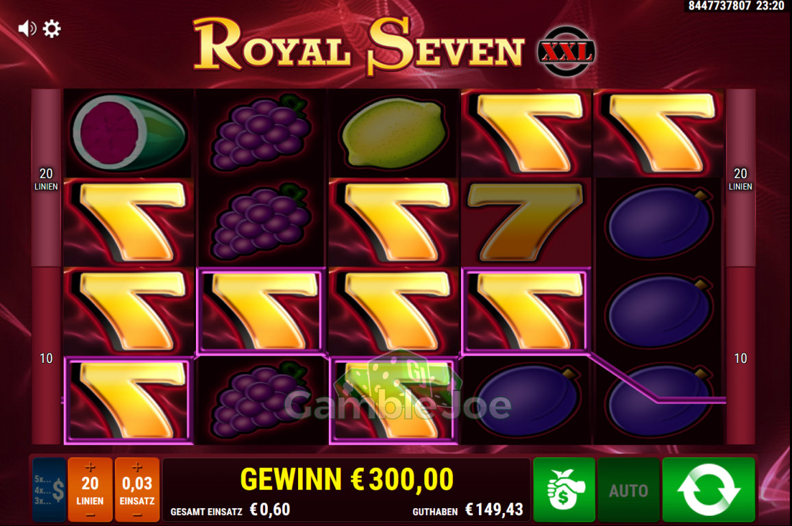 Royal Seven XXL Gewinnbild von KarloKrasso