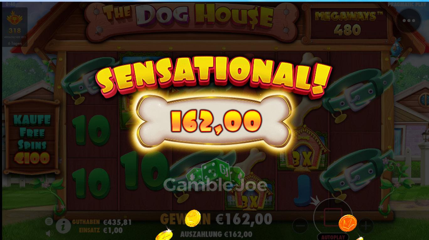The Dog House Megaways Gewinnbild von gambler90