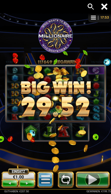 Who Wants to Be a Millionaire Gewinnbild von Maja80