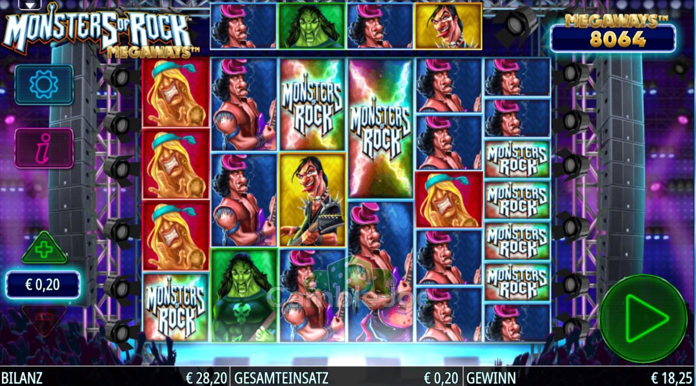 Monsters of Rock Megaways Gewinnbild von Decori86