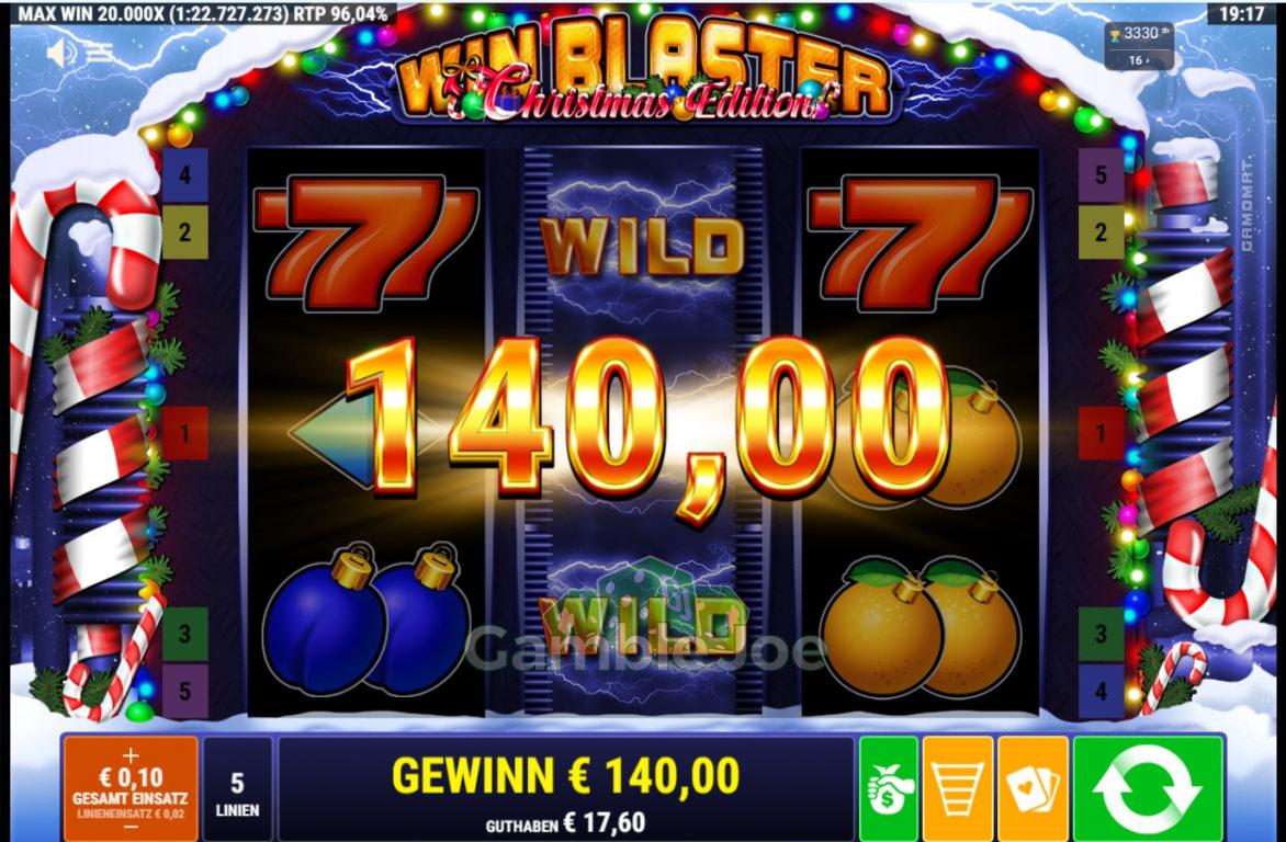 Win Blaster Christmas Edition Gewinnbild von Marcellovic