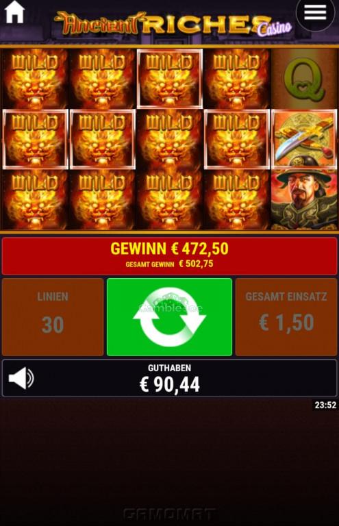 Ancient Riches - Casino Gewinnbild von expertenag