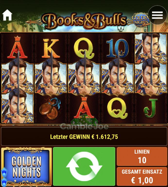Books & Bulls Golden Nights Gewinnbild von F****r