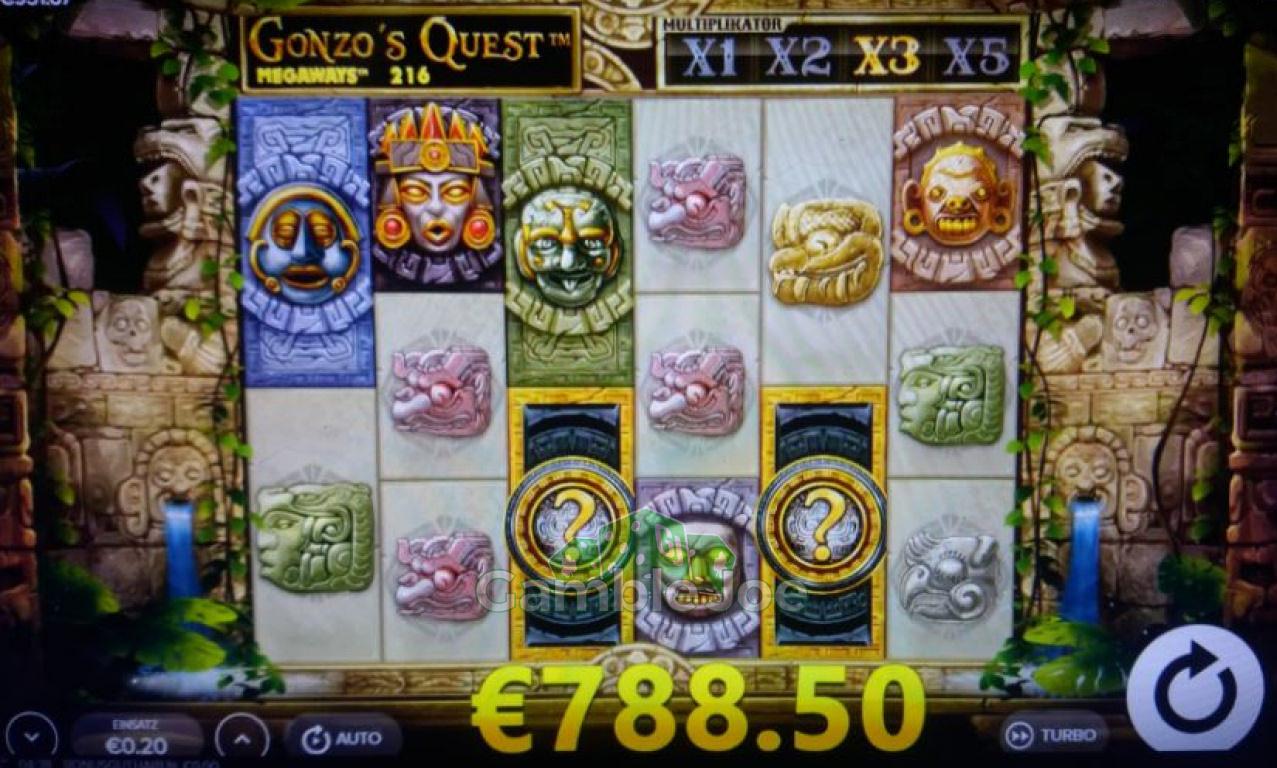 Gonzo's Quest Megaways Gewinnbild von redriver67