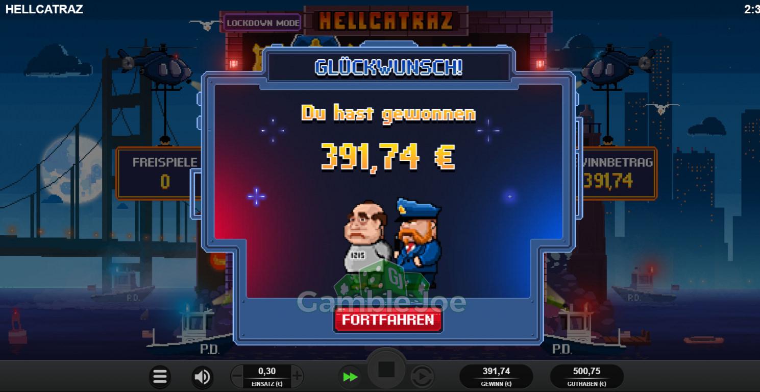 Hellcatraz Gewinnbild von Kleinkariert