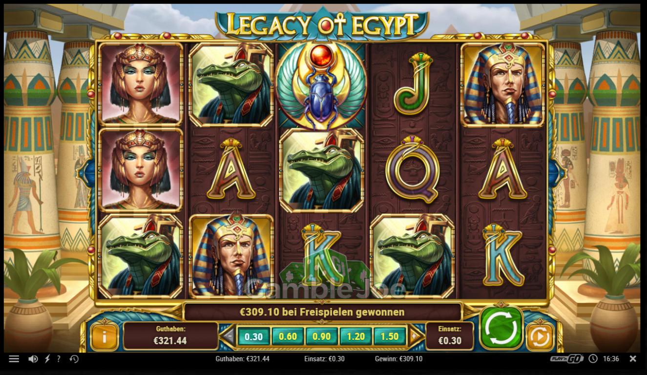 Legacy of Egypt Gewinnbild von Flod94