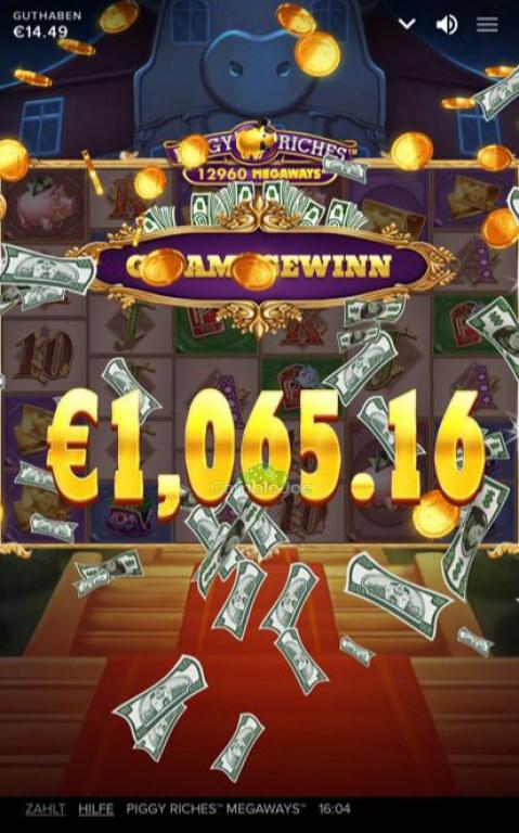Piggy Riches Megaways Gewinnbild von BadInfluence90