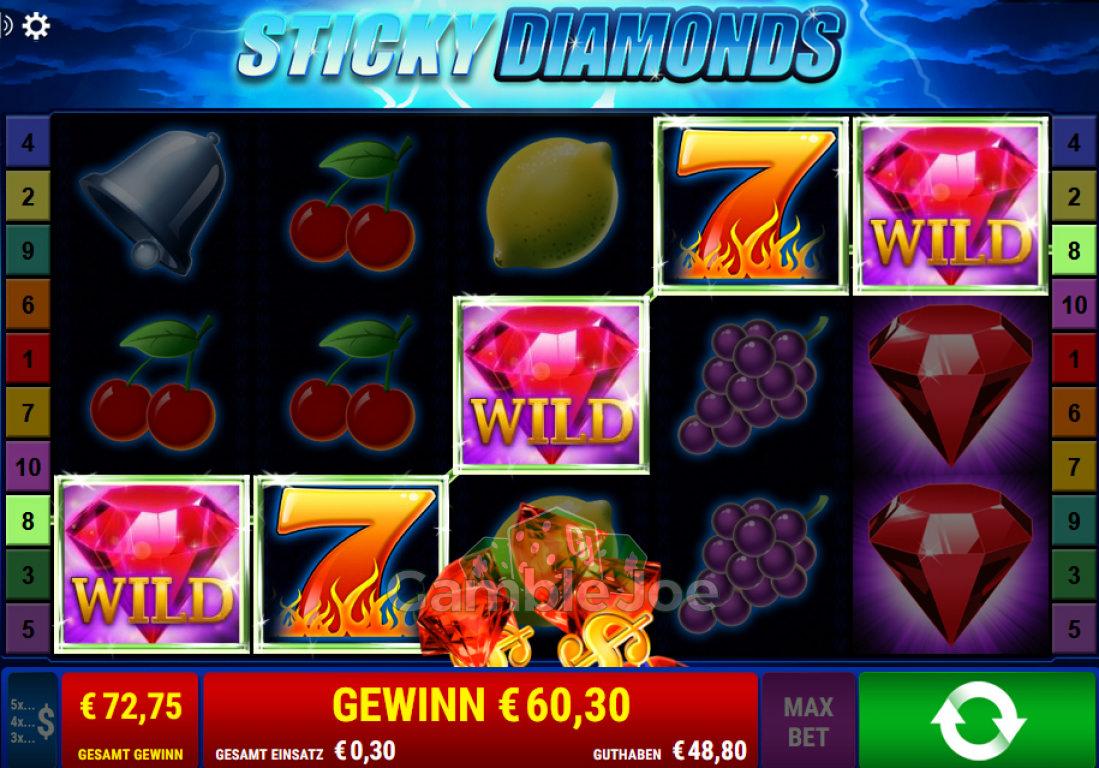 Sticky Diamonds Gewinnbild von Herould