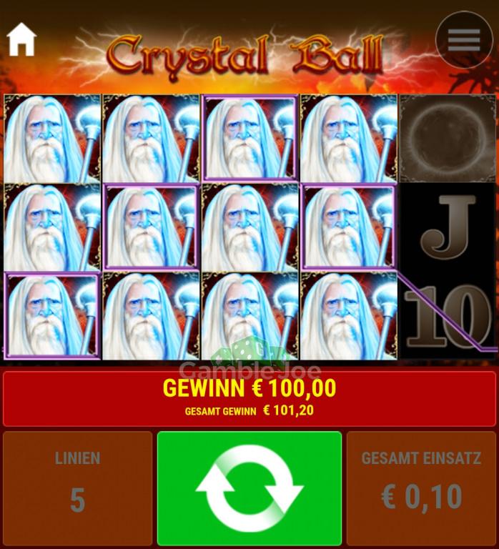 Crystal Ball Gewinnbild von Schlammgalli