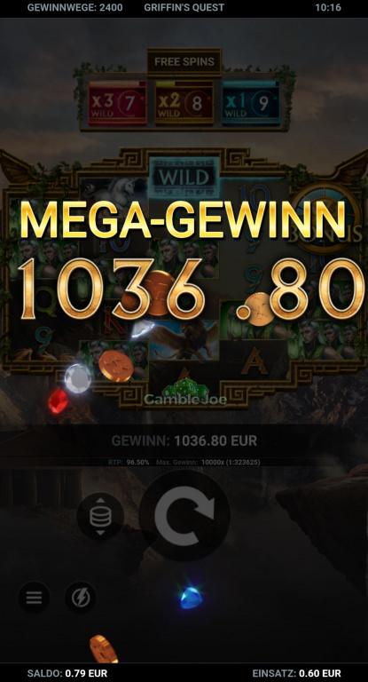 Griffin's Quest Gewinnbild von Pepe99