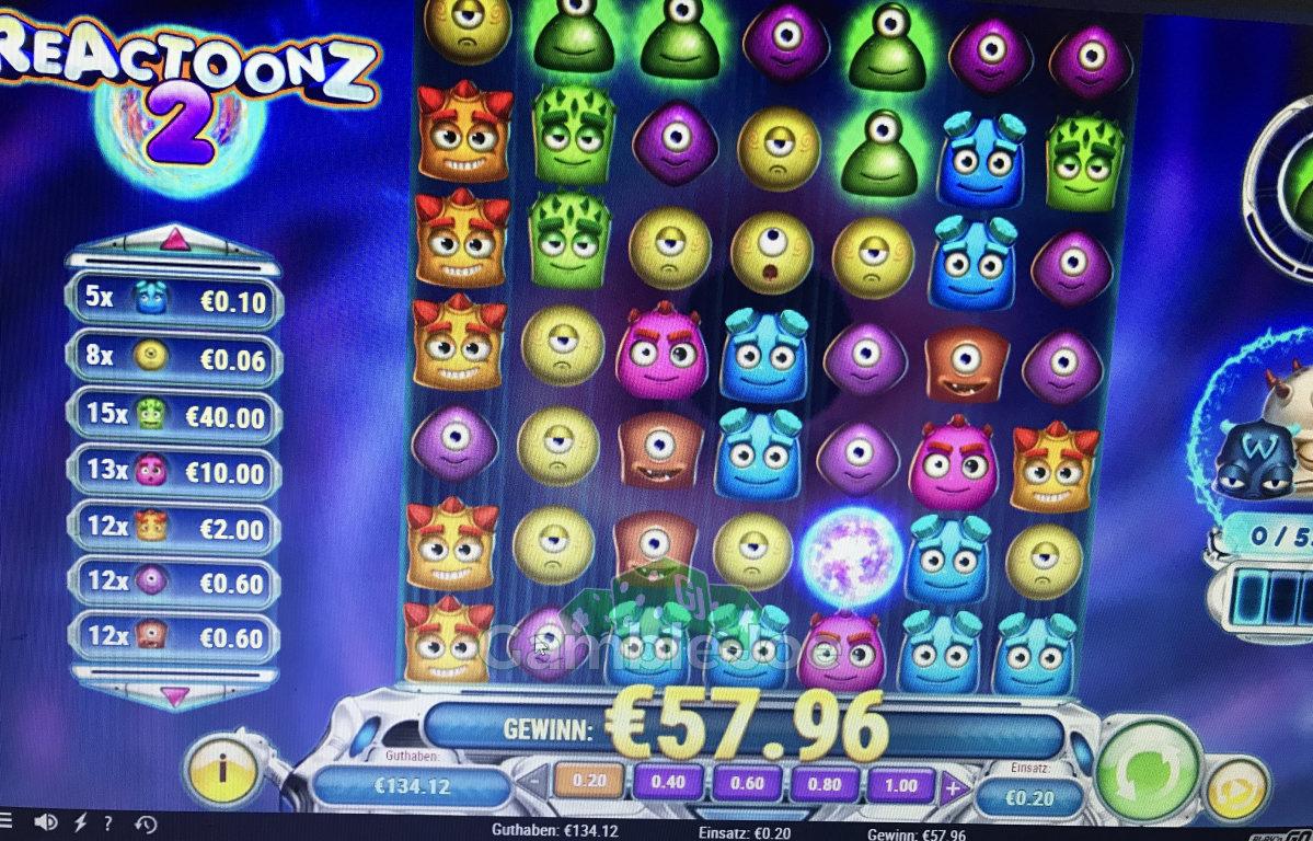 Reactoonz 2 Gewinnbild von Shox2k17