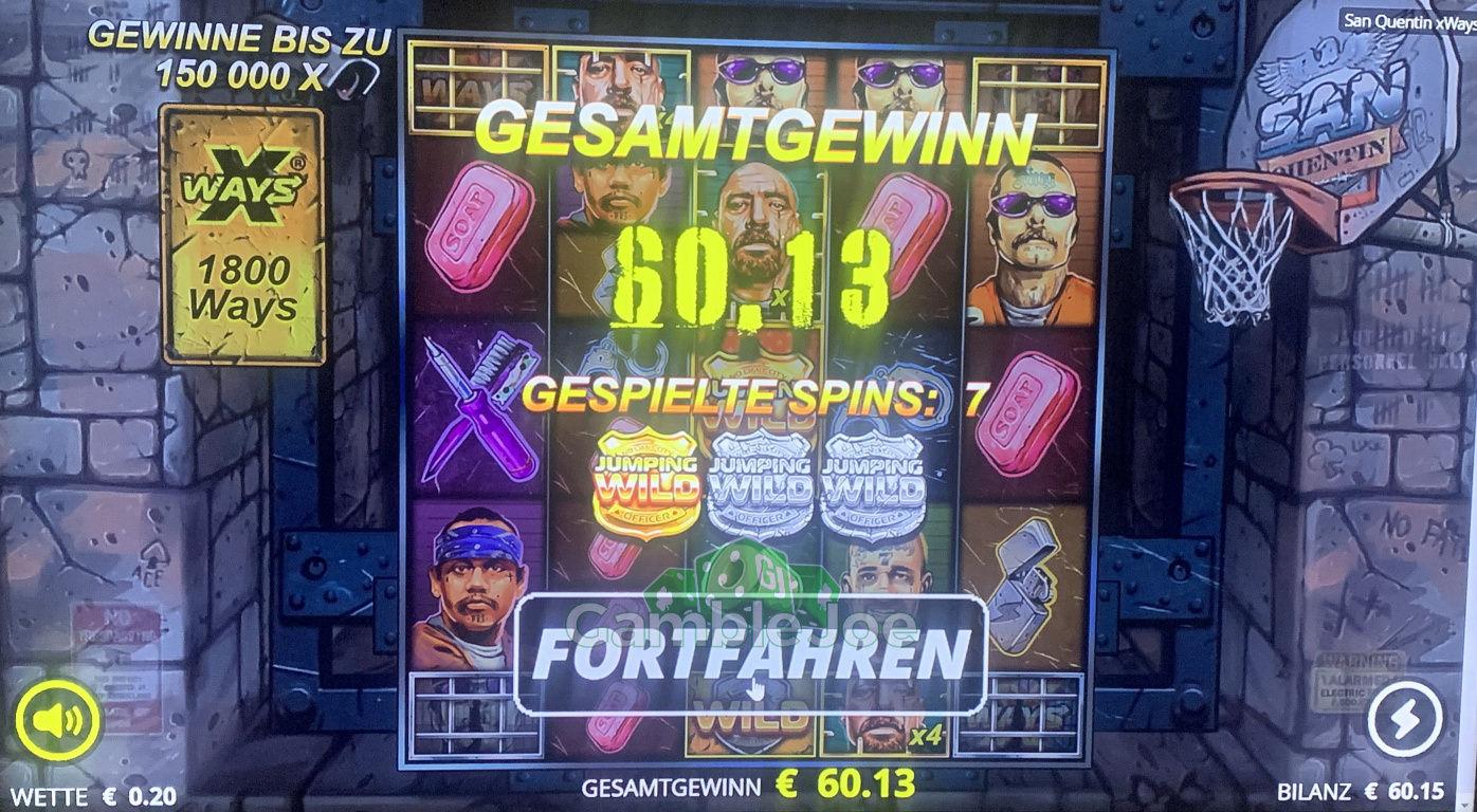 Online Casino 1.250€ Freispiel