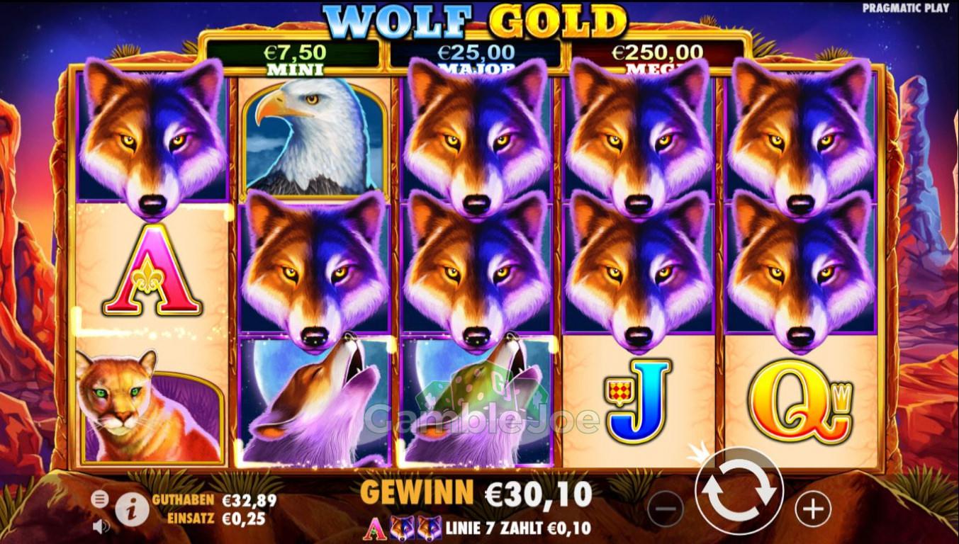 Wolf Gold Gewinnbild von HeadDasher