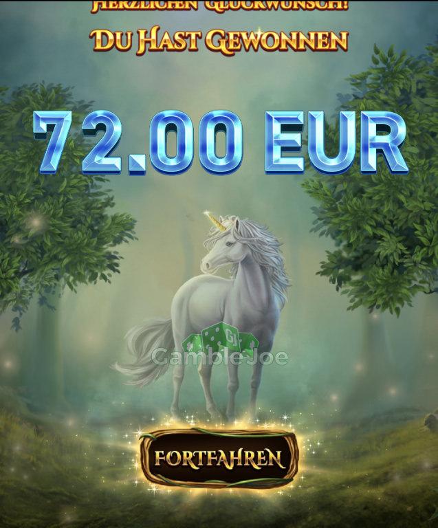 Unicorn Reels Gewinnbild von kleo7777
