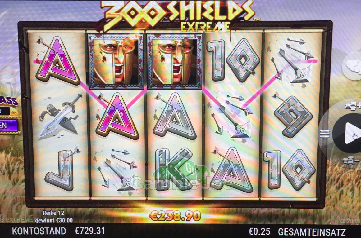 300 Shields Extreme Gewinnbild von Eightnine