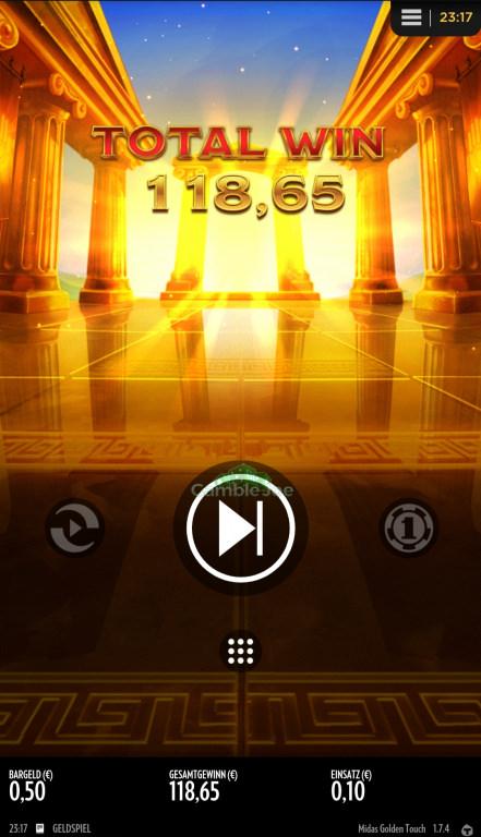Midas Golden Touch Gewinnbild von R****z