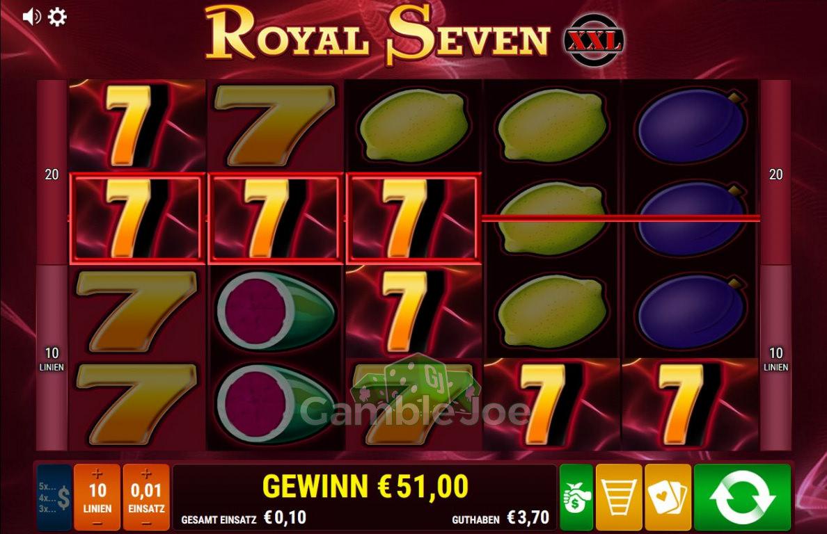 Royal Seven XXL Gewinnbild von FlyHigh52