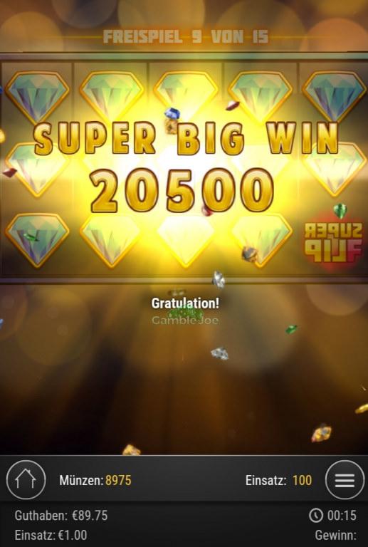 Super Flip Gewinnbild von Bloschies2001