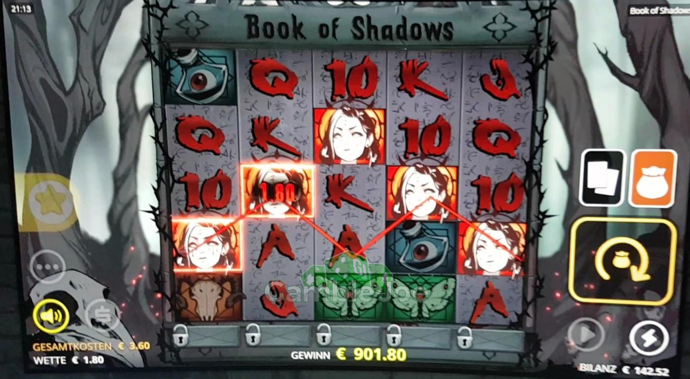 Book of Shadows Gewinnbild von zocker0815