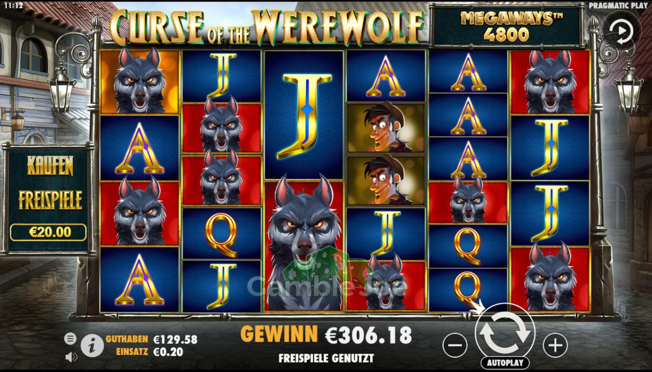 Curse of the Werewolf Megaways Gewinnbild von btssultan