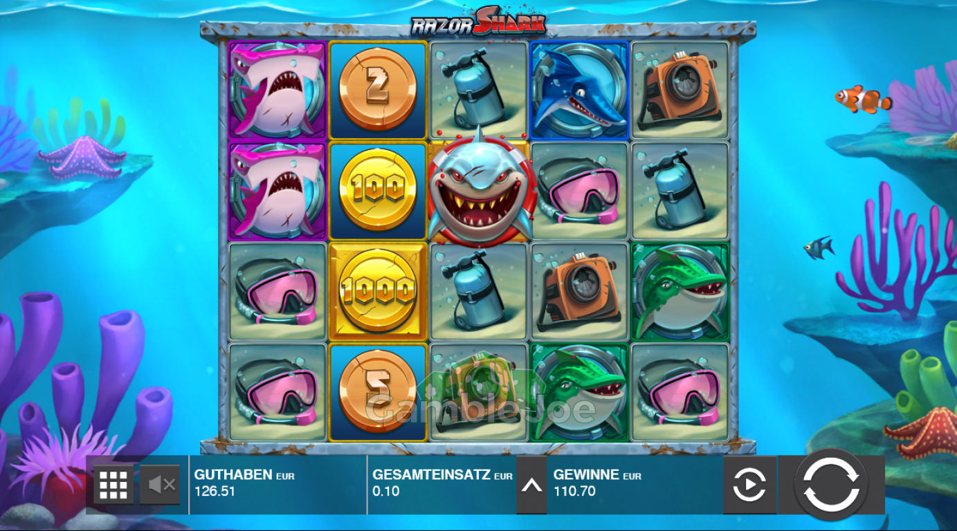 Razor Shark Gewinnbild von letscratz