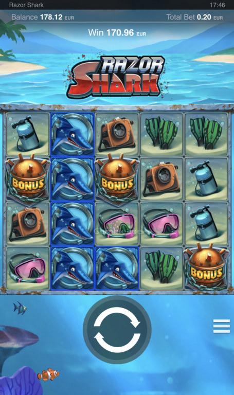 Razor Shark Gewinnbild von LsDohle