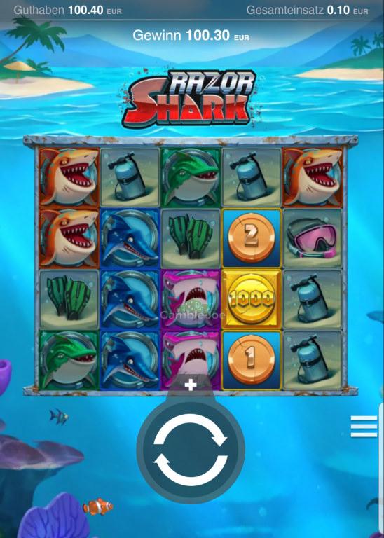 Razor Shark Gewinnbild von TranceBabe