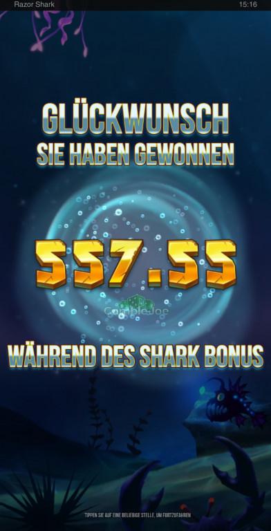 Razor Shark Gewinnbild von WithoutWings