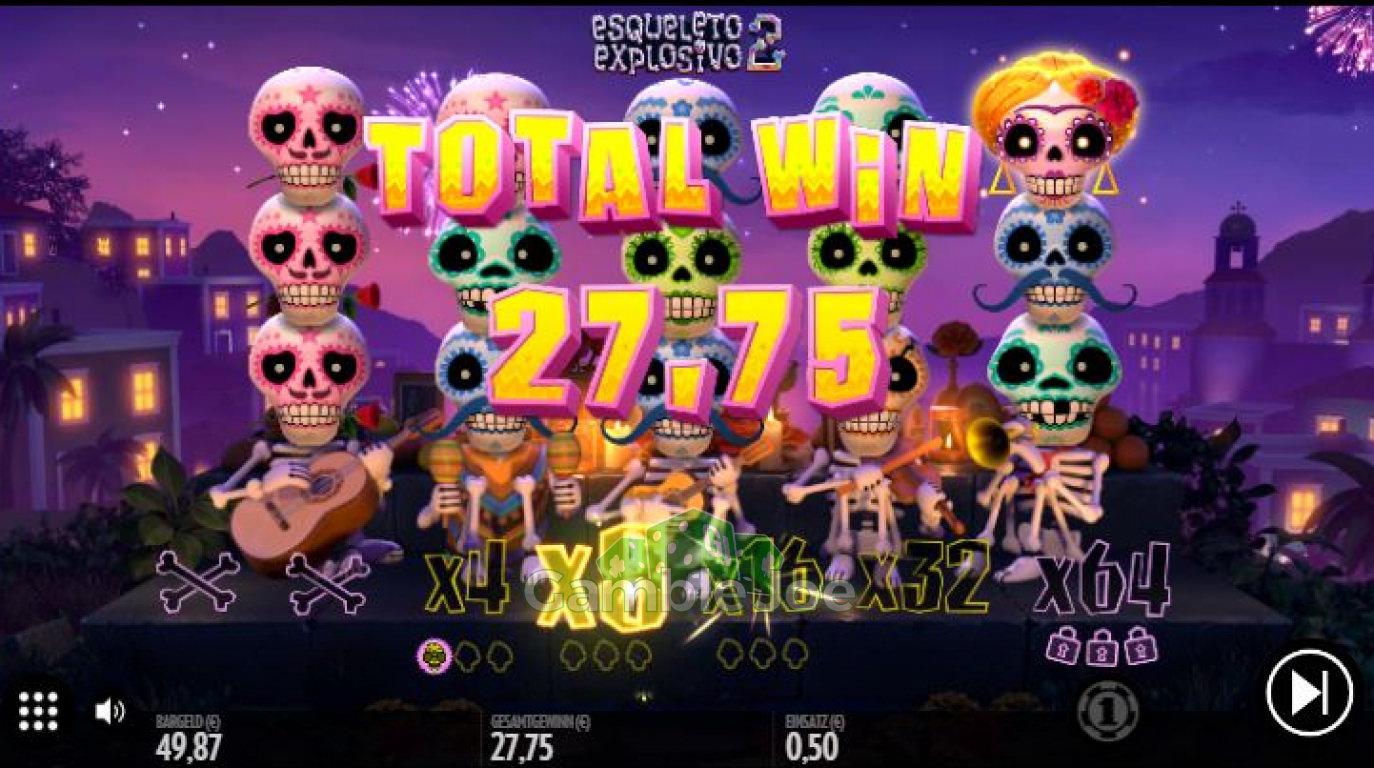 Esqueleto Explosivo 2 Gewinnbild von oldschoolmeisje