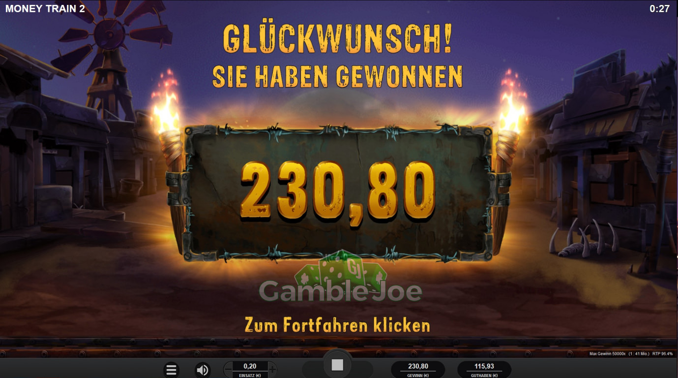 Money Train 2  Gewinnbild von RevoGambling