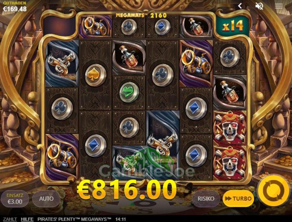 Pirates' Plenty Megaways  Gewinnbild von Chris26