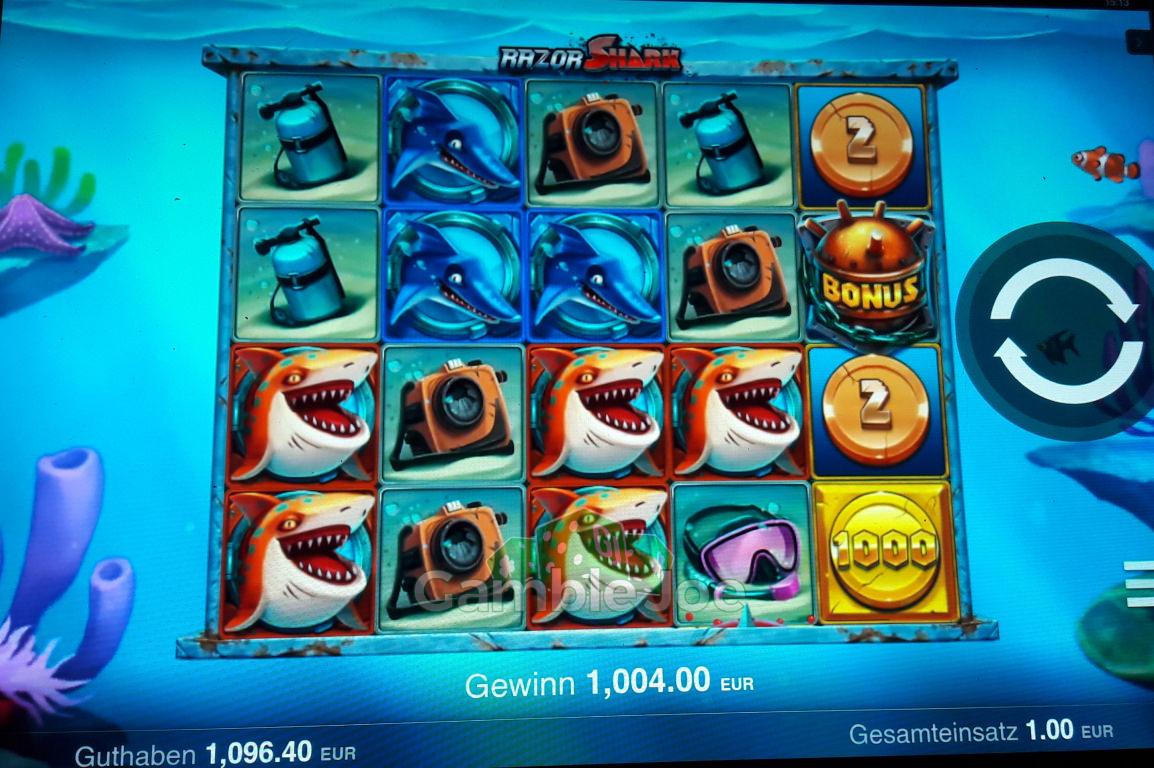 Razor Shark Gewinnbild von Klabisto
