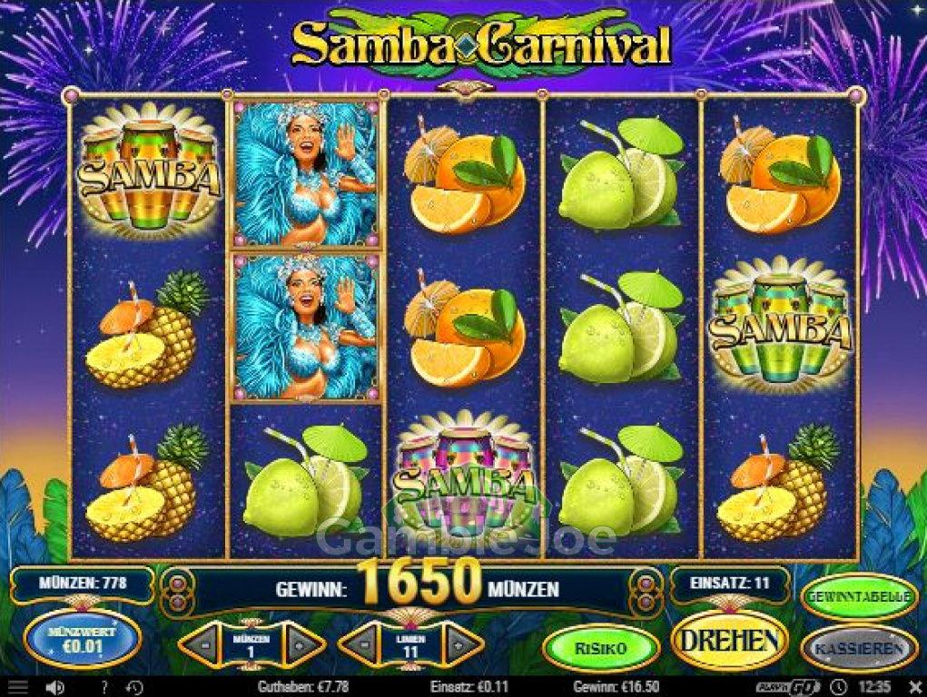 Samba Carnival Gewinnbild von oldschoolmeisje