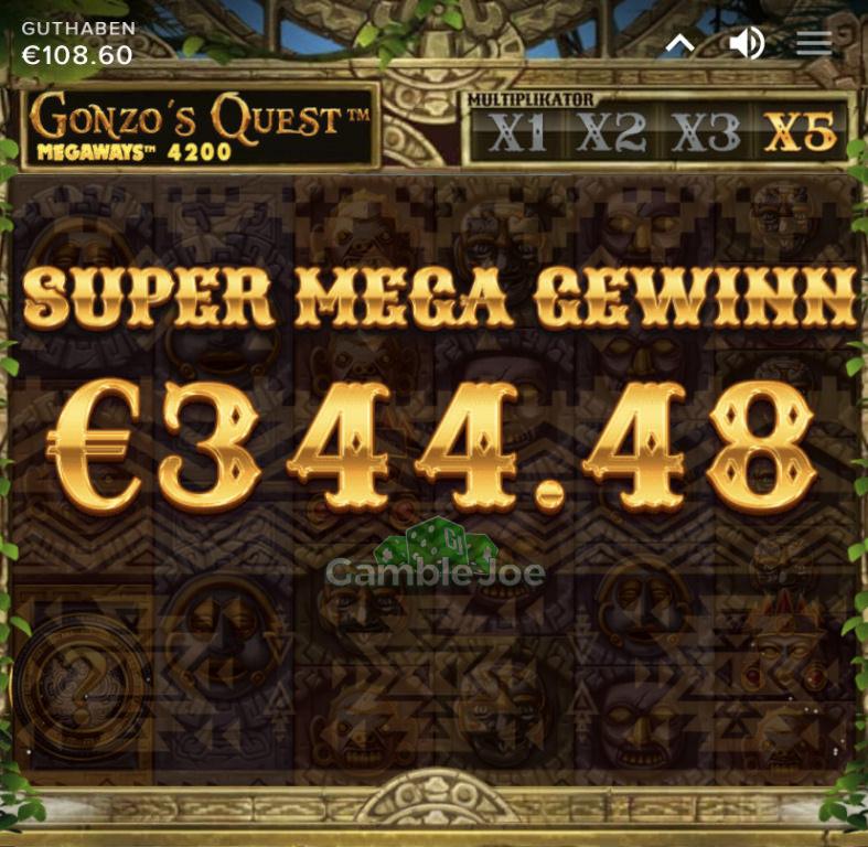 Gonzo's Quest Megaways Gewinnbild von LsDohle