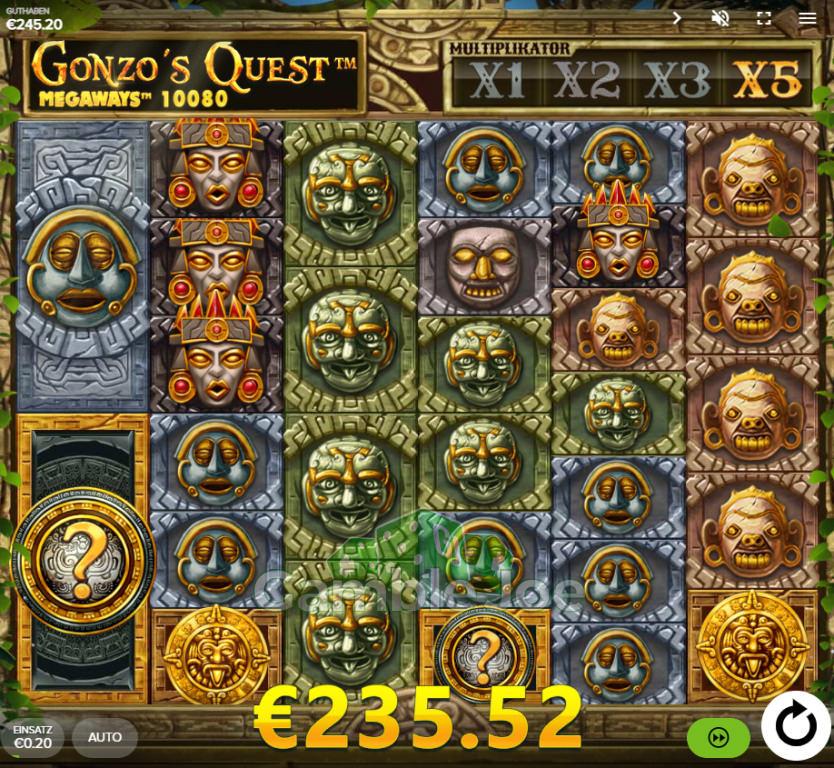 Gonzo's Quest Megaways Gewinnbild von Sarkasto
