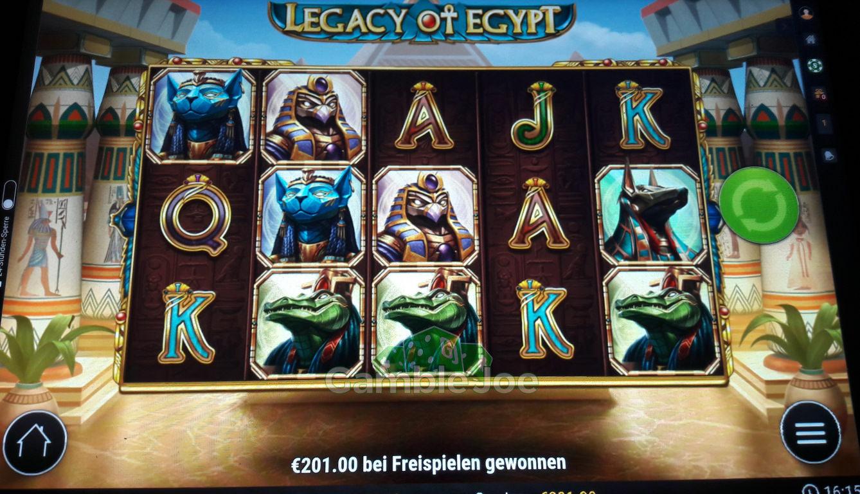 Legacy of Egypt Gewinnbild von Klabisto