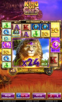 King of Cats Gewinnbild
