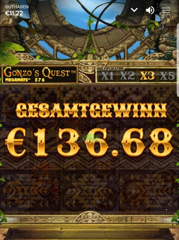 Gonzo's Quest Megaways Gewinnbild von Jesss711