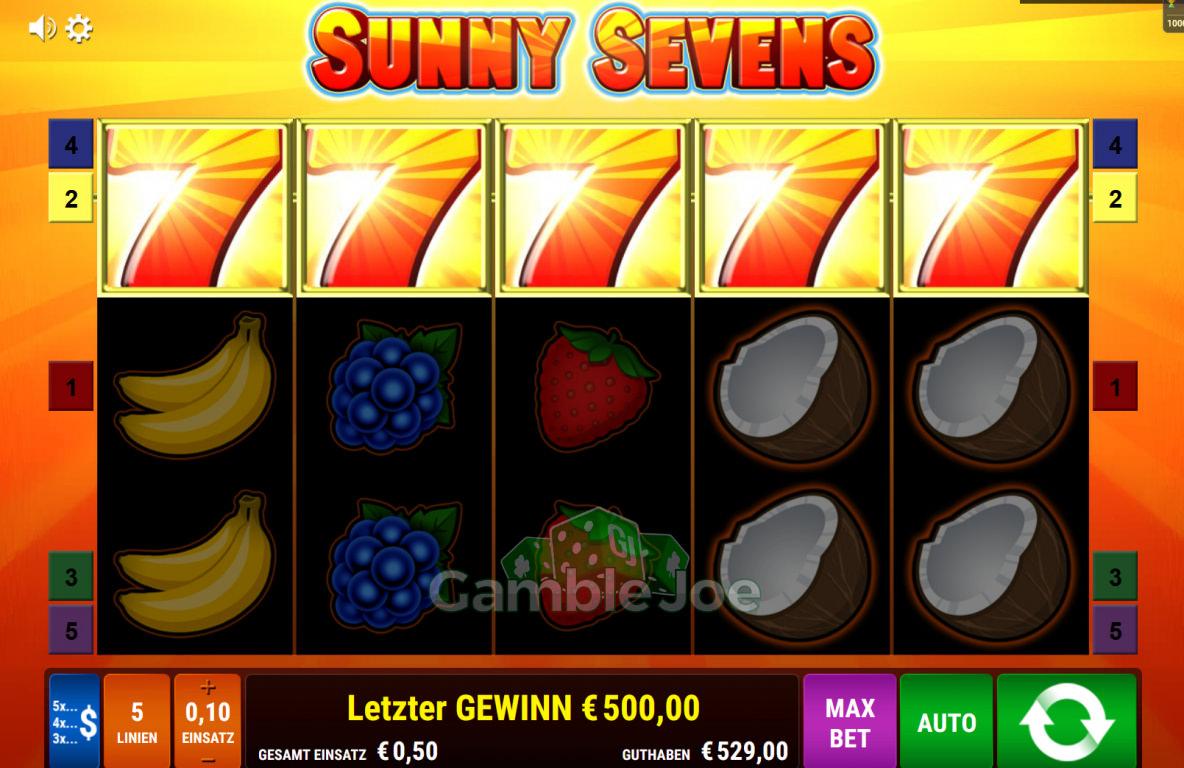 Sunny Sevens Gewinnbild von cronex