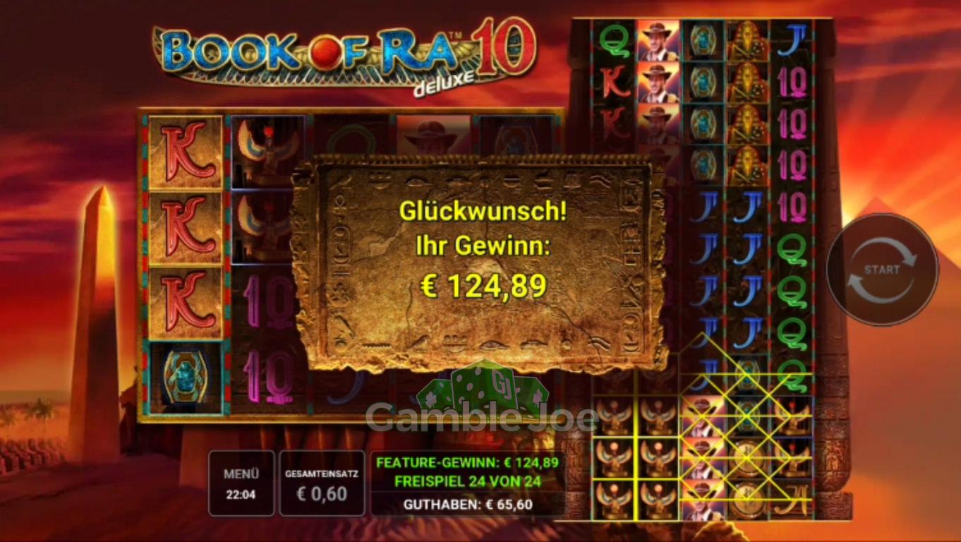 Book of Ra 10 deluxe Gewinnbild von debofi72