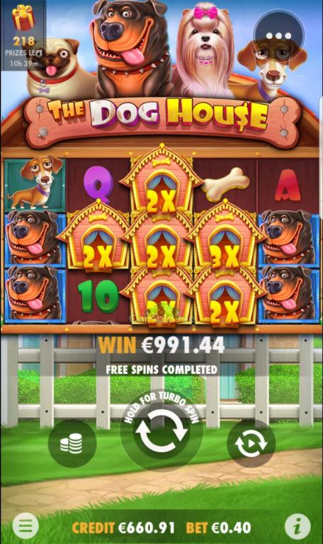 The Dog House Gewinnbild von Bierstus