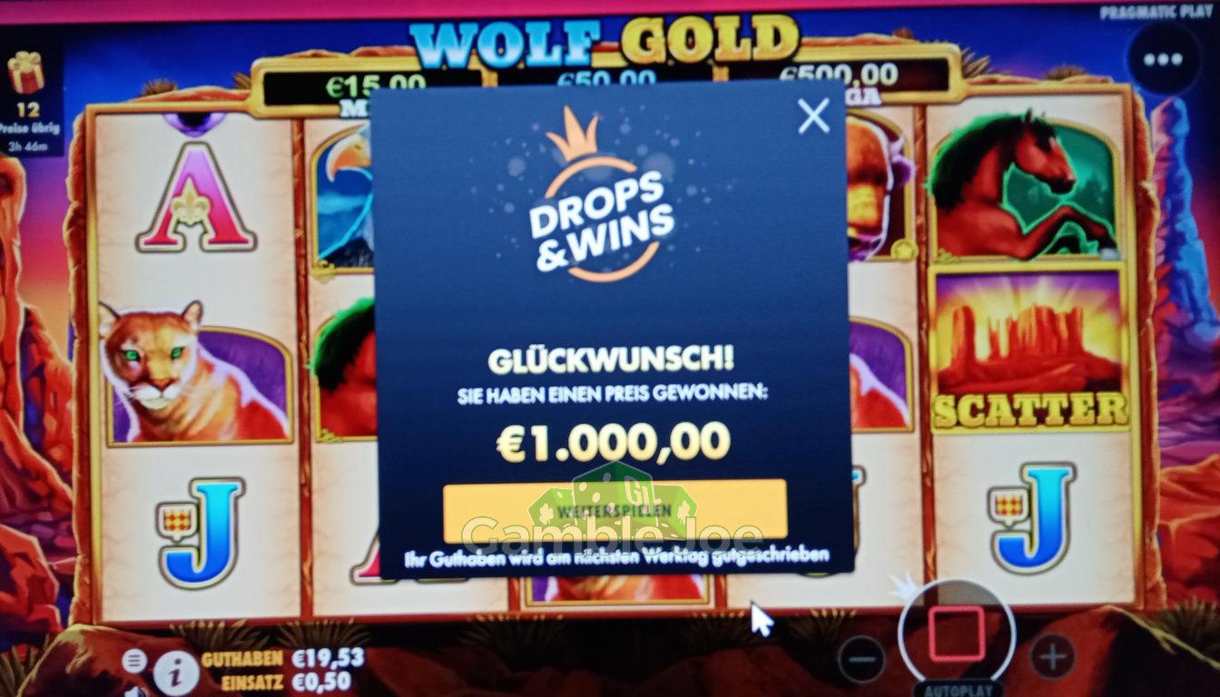 Wolf Gold Gewinnbild von slutslap69