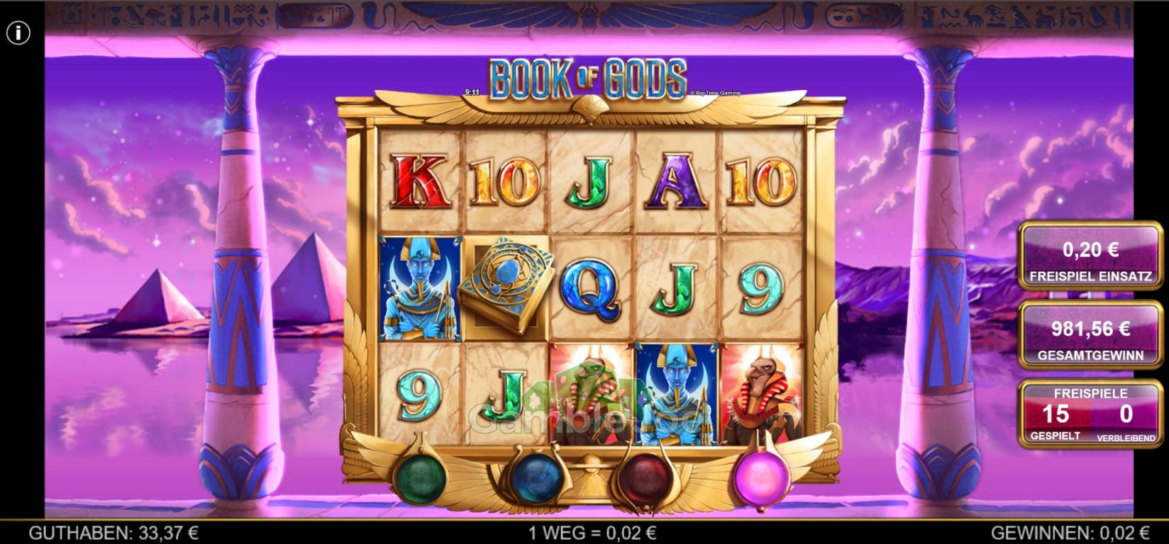 Book of Gods Gewinnbild von Gamble14