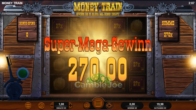 Money Train Gewinnbild von Chiyo