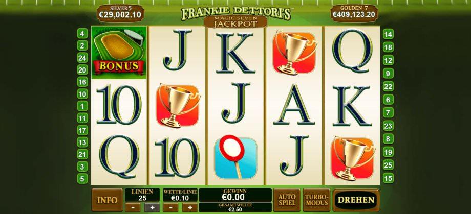 Frankie Dettori's Magic 7 Jackpot Game